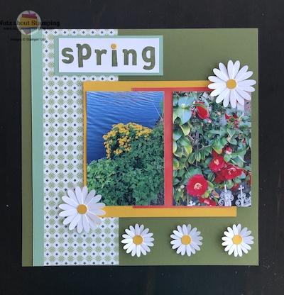 Spring scrapbok page