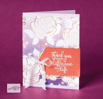 Flowering Foils card idea