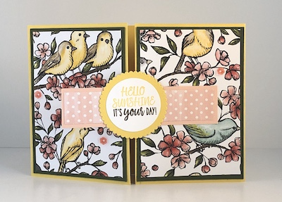 Bird Ballad Fancy Fold card