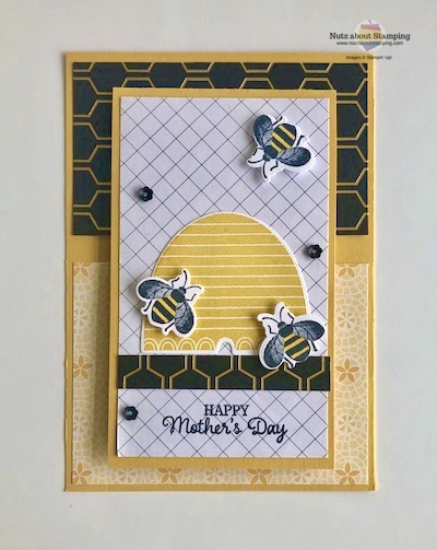 Honey Bee Mother's Day card