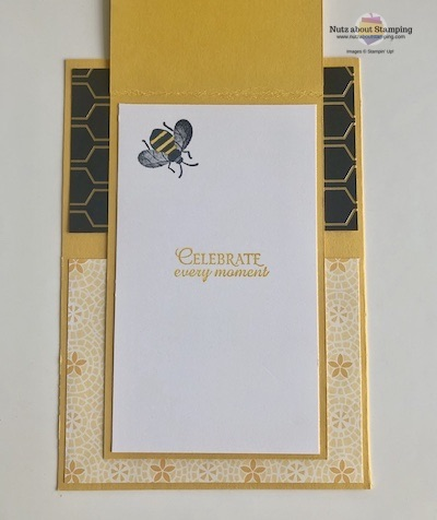 Honey Bee card open