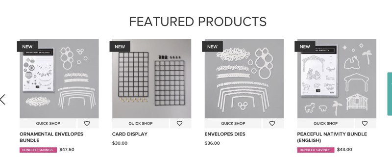 Feature products page