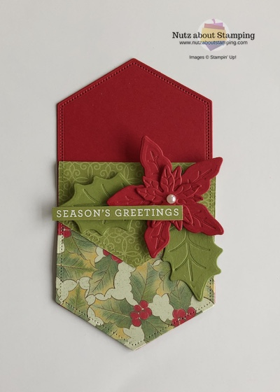 Poinsettia Place gift card holder