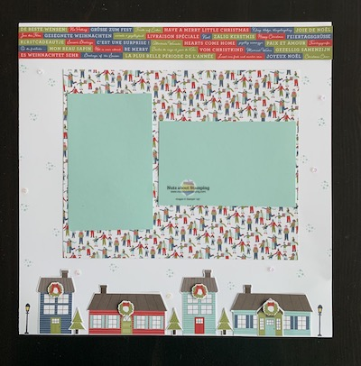 Trimming the Town scrapbook page