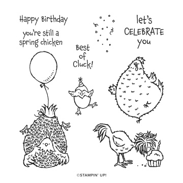 Hey birthday Chick stamp set
