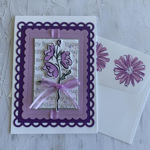 Color & Contour card and envelope