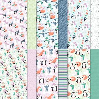 Penguin Playmates paper