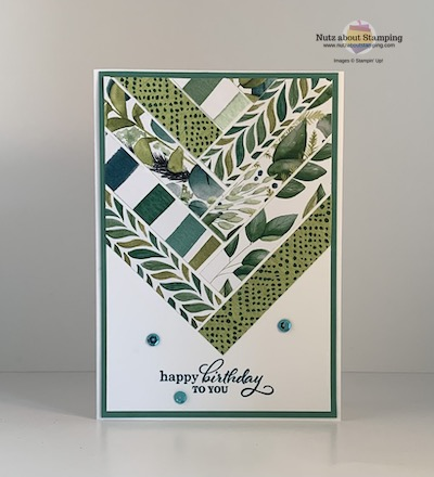 Forever Greenery paper piecing card