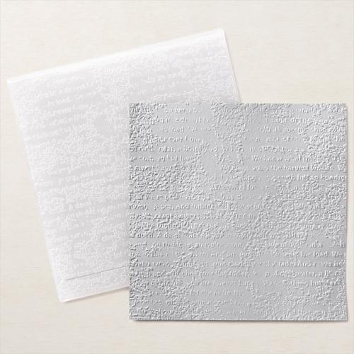Timeworn Type 3D embossing folder